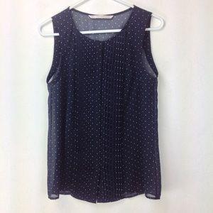 🌵2/$30 Trafaluc polka dot pleated sleeveless top